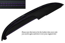 PURPLE STITCH TOP DASH DASHBOARD LEATHER COVER FITS BUICK LESABRE COUPE 1960
