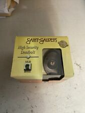 NEW ~ Trimco High Security Deadbolt single Cylinder Solid Bronze Saint Gaudens