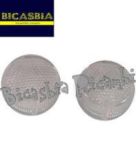 7550 - COPPIA GEMME FRECCE BIANCHE POSTERIORI APRILIA 50 SCARABEO RALLY SR STEAL