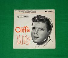 "CLIFF RICHARD Cliff`s Hits ROCK N ROLL POP MONO 7"" EP 1962"