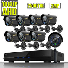 ELEC 8CH CCTV DVR 1080P 2MP Outdoor Security Camera System 2500TVL IR-Cut 1080N