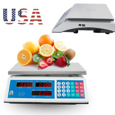 Digital Lcd Weight Price Scale 66lb 30kg Computing Retail Food Meat Deli Produce