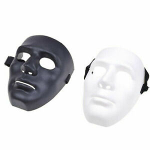 Hard Plastic Full Face Guard Mask Cosplay Costume Party Halloween