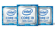Intel Core i5 9th and i3 9th and i9 9th gen and i7 9th gen blue Metallic sticker