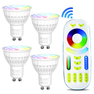 MiBoxer  RGB+CCT RGBW Dimmable Smart 2.4G WiFi 4W GU10 mr16 LED Spotlight Bulb