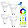 Mi.Light 4W GU10 mr16 RGB+CCT LED Spotlight Bulb RGBW Dimmable Smart 2.4G WiFi