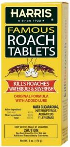 Harris Roach Tablets Boric Acid Cockroach Killer with Lure for Home Kitchen 6oz