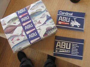 abu garcia sweden card box vintage cardinal 556 fishing reel + paperwork