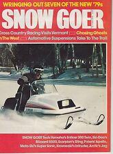 OCT 1978 SNOW GOER snowmobile magazine