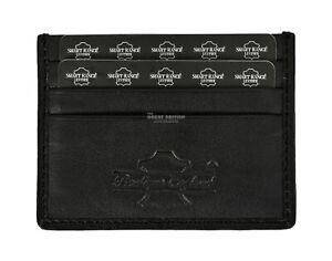 Real Leather ID Credit Card Holder Wallet Slim Pocket Case Cardholder Black 0044