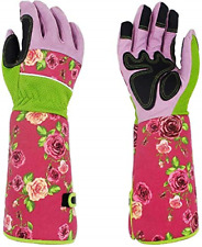 Heavy Duty 37CM Long Breathable Thorn Proof Gardening Work Gloves Pink