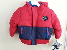NWT ROTHSCHILD BABY BOY SIZE 18  MONTHS RED AND BLUE WINTER COAT