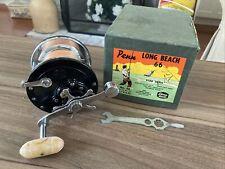 Vintage PENN Long Beach No. 66 Conventional Saltwater Fishing Reel w/Orig Box EX