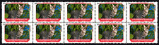 California Spangled Feline Friends Cat Breeds Strip Of 10 Mint Stamps