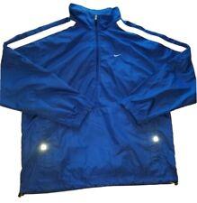 Vintage Mens Nike Half Zip Windbreaker LARGE L Blue Embroidered CLEARNACE SALE