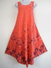 Vestiti da donna rosa in cotone con scollo a v