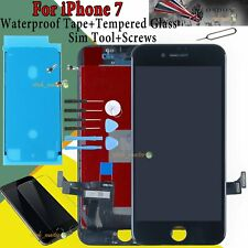 For iPhone 7 LCD Touch Screen Black Digitizer Display + Waterproof Adhesive Tape