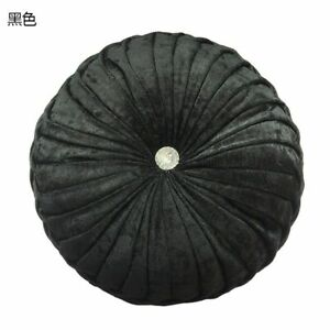 Modern Round Chair Cushion PP Pumpkin Seat Pad Cotton Filling Polyester Woven