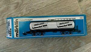 MARKLIN HO GAUGE 4655 SCHWECHAT 2000 - OBB TANKER WAGON - 785 0 027-2 - boxed