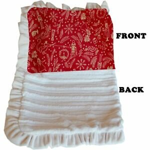 Mirage Pet Products Luxurious Plush Pet Blanket Red Holiday Whimsy Jumbo Size