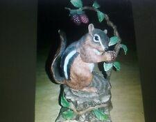 1993 Lenox Woodland Animal Figurine Eastern Chipmunk Summer Delight.