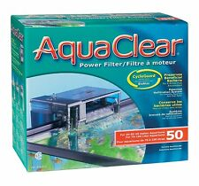 AquaClear 50 Hang on The Back Filter with MEDIA,FOAM,CARBON Complete package