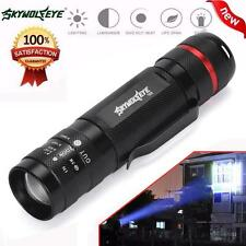 5000LM Zoomable CREE XM-L T6 LED 18650 Flashlight Torch Super Bright Light Free