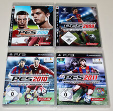 4 PLAYSTATION 3 SPIELE SET - PRO EVOLUTION SOCCER 2008 2009 2010 2011 PES PS3