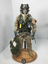 "1/6 DRAGON US NAVY F-14 ""TOP GUN"" MODERN FIGHTER PILOT W/BASE BBI DID RC 21"