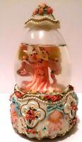 Beautiful Vintage Heavenly Angel snow globe/music box