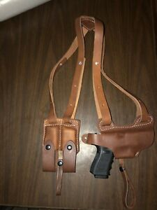 Premium Leather Shoulder Holster for GLOCK 20 # 9021 BLK 21
