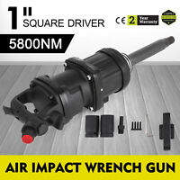 "4280 Ft.lb 1"" Air Impact Wrench Gun Long Shank Commercial Truck w /2 Sockets"