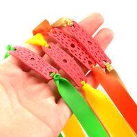 Powerful 12Pcs Colors Elastic Flat Rubber Band for Slingshot Catapult Set
