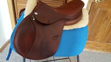 "16.5"" Jaguar English close contact saddle - wide panels!  Buffalo leather!"
