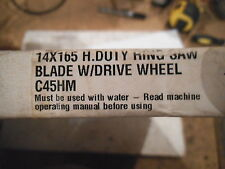 "Diamond Products 92617  Ring Saw Blade W/ DRIVE WHEEL 14"" x .165 C45H"