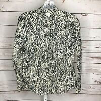 J Crew Womens Button Front Long sleeve Blouse Size 2