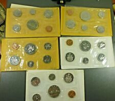 Canada 5 Sealed Mint Sets 1968, 1969, 1970, 1971, and 1972
