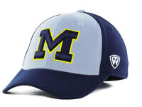 Michigan Wolverines NCAA Top of the World Navy and Gray Flex Fit Hat Cap OSFM