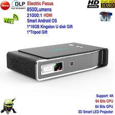 2018 New 4K DLP 8500 Lumens Full HD 3D Smart Projector WiFi LAN LED Projector