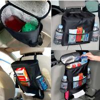 Auto Car Seat Back Organizer Multi Pocket Travel Storage Bag Drinks Holder Tray