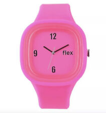 Flex PINK Classic SILICONE Wrist Watch - Water Resistant NEW 45mm