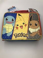 Thermos Pokemon Antimicrobial Lunch Box Bag Insulated Lunchbox Pikachu NWT NEW