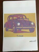 Andy Warhol Litografia 57 x 38 Arches Timbro Secco Israel Castelli AN054