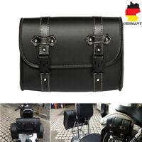 Motorrad Satteltaschen Seitentasche Rückseite Tasche PU Leder Taschen Schwarz