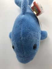 """Adventure Planet Mighty Mights Soft Blue Dolphin 6"""" Plush Stuffed Animal New"""