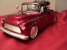 Jada 1955 Chevrolet Stepside tow truck  1/24 scale cherry exterior  new no box