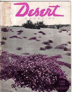 1938 Desert April - 6th issue - Rattlesnake bones, Desert Cooling; Superstition