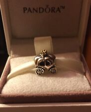 "Pandora ""Royal Carriage"" Charm 790598P .925 Silver 14kt Gold white pearl"