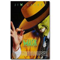 THE MASK  Im Carrey Cameron Diaz Peter Greene Silk Poster 13x20 inch J154