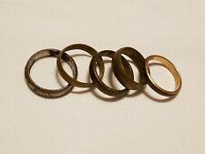 - lot of 5 Fashion Ring: metal band rings